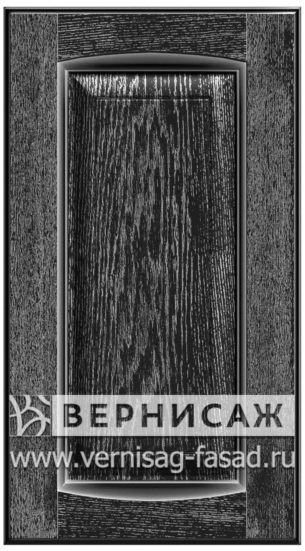 Прямые сборные фасады из МДФ в шпоне Фрезеровка №1, цвет Д30
