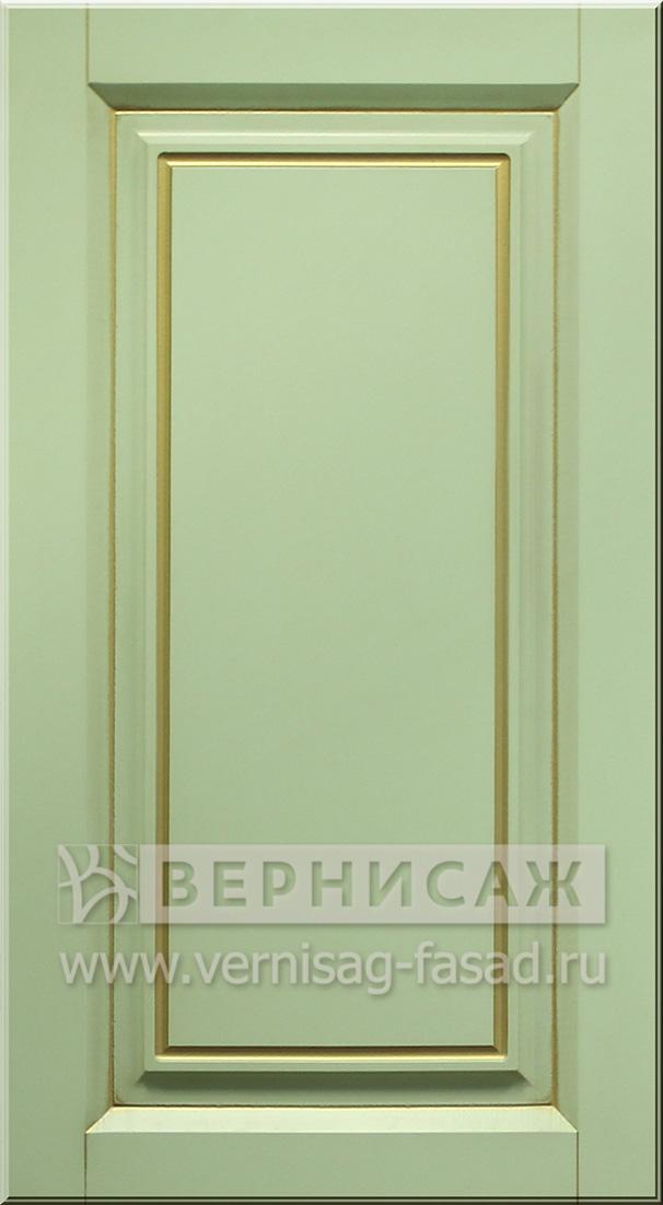 Фасады в пленке ПВХ, Фрезеровка № 48, цвет Фисташка, патина - золото