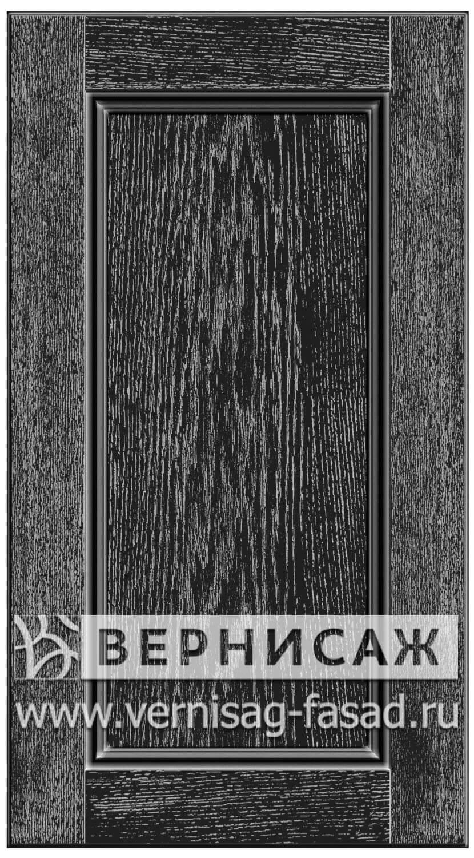 Прямые сборные фасады из МДФ в шпоне. Фрезеровка №4, цвет Д30