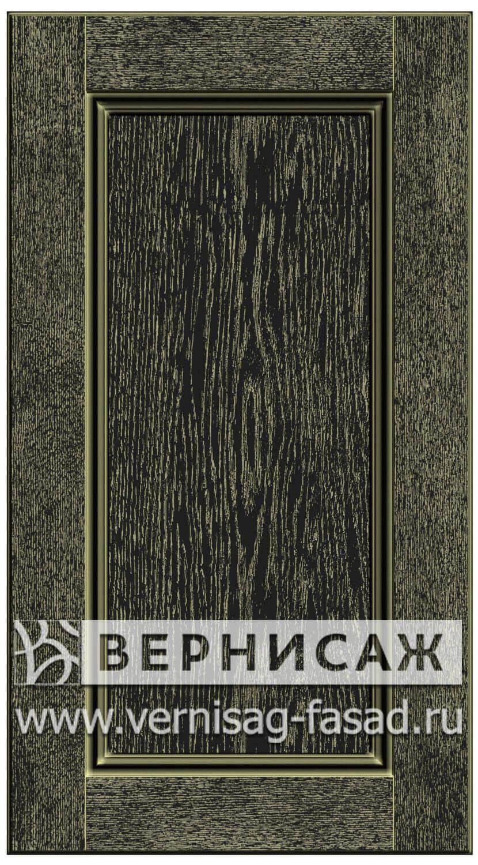 Прямые сборные фасады из МДФ в шпоне. Фрезеровка №4, цвет Д29