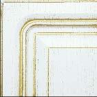 Белая структурная, патина - золото
