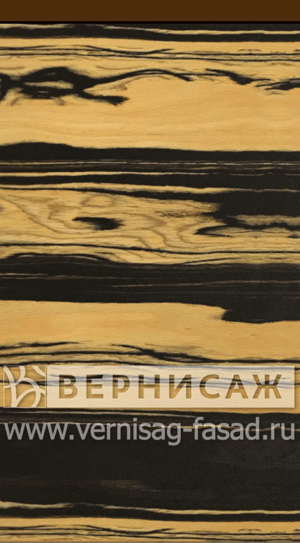 Шпонированные фасады из экзотических пород дерева, с интегрированной ручкой Эбен лунный