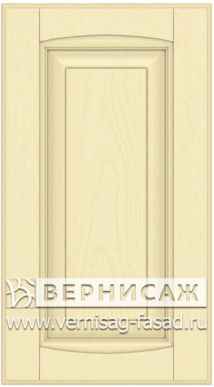 Прямые сборные фасады из МДФ в шпоне Фрезеровка №1, цвет Д04
