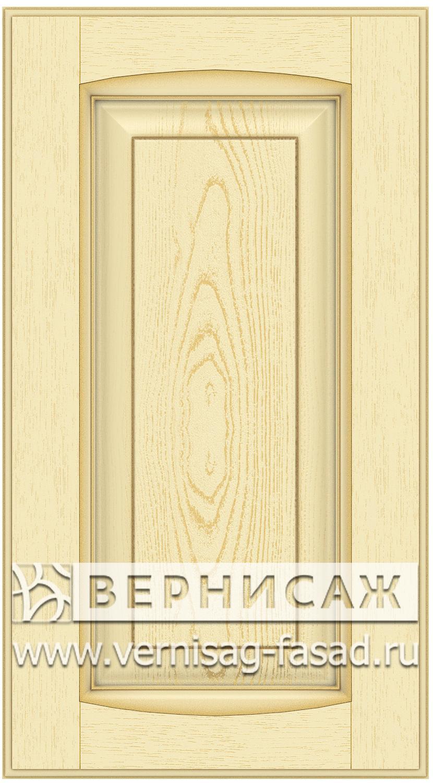 Прямые сборные фасады из МДФ в шпоне Фрезеровка №1, цвет Д05