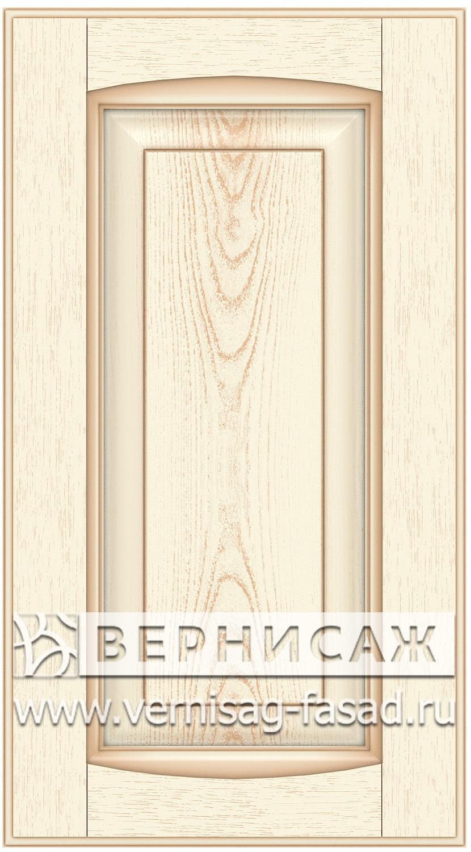 Прямые сборные фасады из МДФ в шпоне Фрезеровка №1, цвет Д15