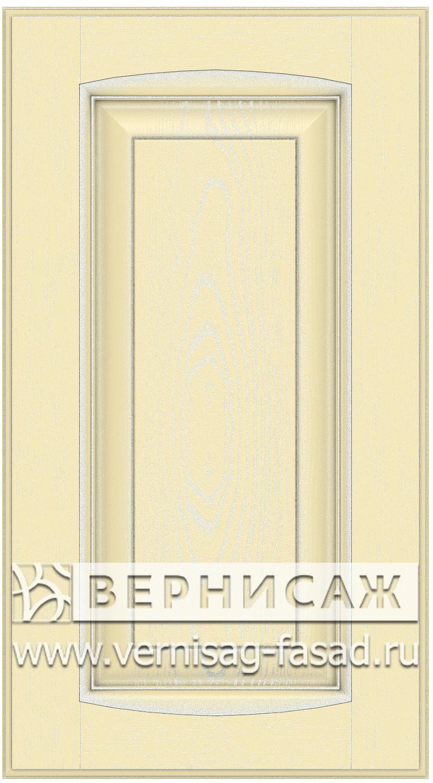 Прямые сборные фасады из МДФ в шпоне Фрезеровка №1, цвет Д17