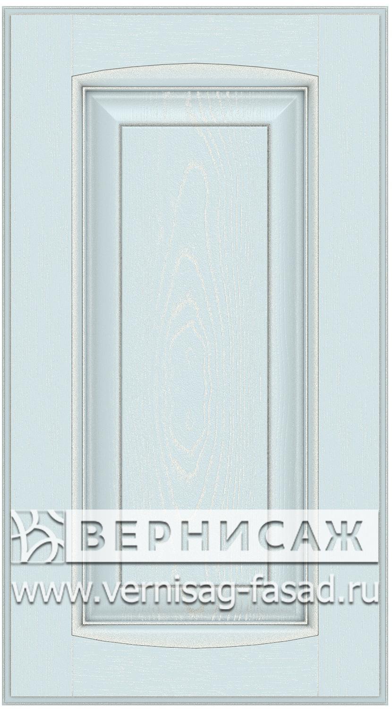 Прямые сборные фасады из МДФ в шпоне Фрезеровка №1, цвет Д19