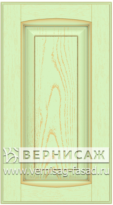 Прямые сборные фасады из МДФ в шпоне Фрезеровка №1, цвет Д21