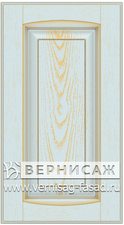 Прямые сборные фасады из МДФ в шпоне Фрезеровка №1, цвет Д22