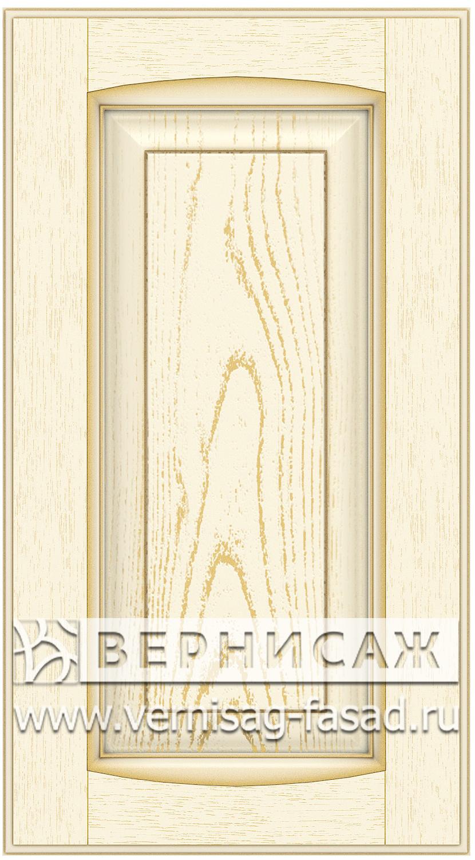 Прямые сборные фасады из МДФ в шпоне Фрезеровка №1, цвет Д24