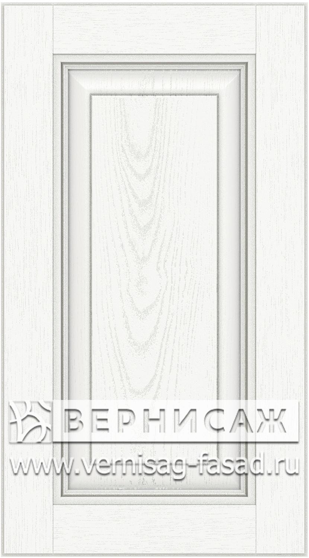 Прямые сборные фасады из МДФ в шпоне. Фрезеровка №3, цвет Д03