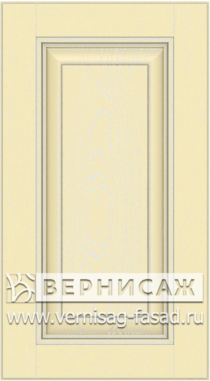 Прямые сборные фасады из МДФ в шпоне. Фрезеровка №3, цвет Д17