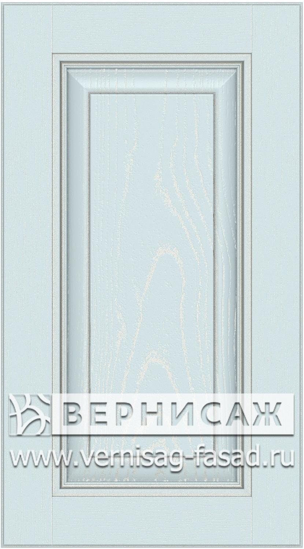Прямые сборные фасады из МДФ в шпоне. Фрезеровка №3, цвет Д19