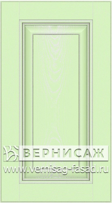 Прямые сборные фасады из МДФ в шпоне. Фрезеровка №3, цвет Д23