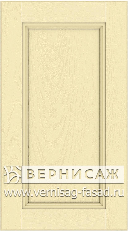 Прямые сборные фасады из МДФ в шпоне. Фрезеровка №4, цвет Д04
