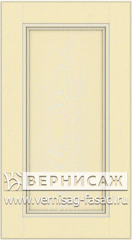 Прямые сборные фасады из МДФ в шпоне. Фрезеровка №4, цвет Д17