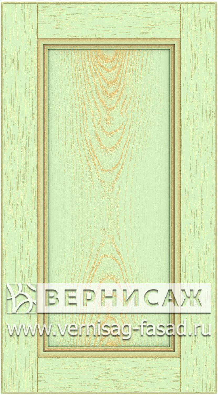 Прямые сборные фасады из МДФ в шпоне. Фрезеровка №4, цвет Д21