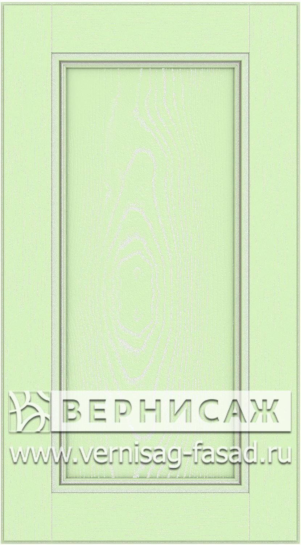 Прямые сборные фасады из МДФ в шпоне. Фрезеровка №4, цвет Д23