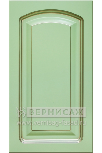 Фасады в пленке ПВХ, Фрезеровка № 45, цвет фисташка, патина - серебро