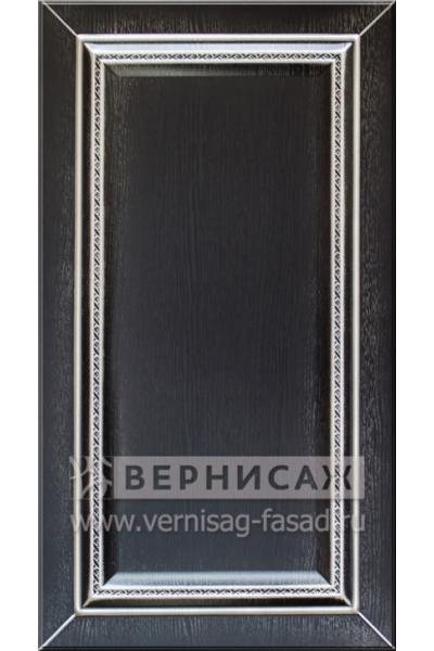 Фасады в пленке ПВХ, Фрезеровка № 50, цвет Венге премиум, патина - серебро