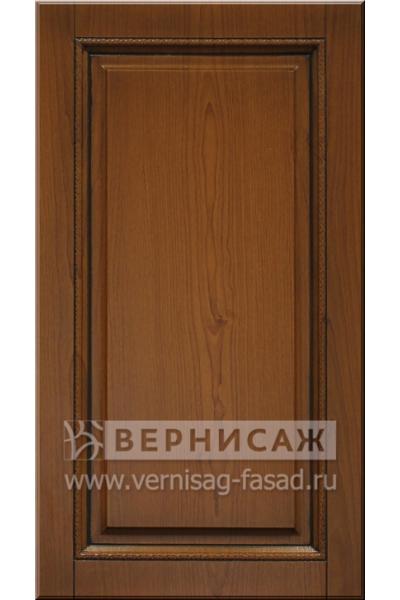 Фасады в пленке ПВХ, Фрезеровка № 52, цветь Клён,  патина - орех