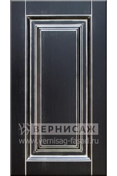 Фасады в пленке ПВХ, Фрезеровка № 57, цвет Венге, патина - серебро