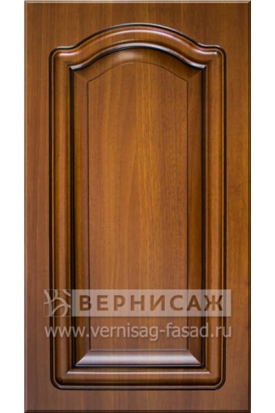 Фасады в пленке ПВХ, Фрезеровка № 75, цвет Каштан, патина - орех