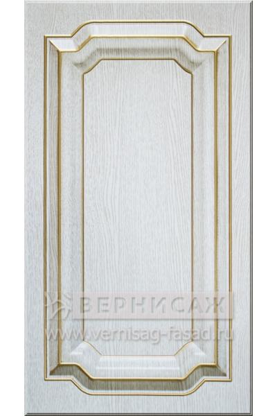 Фасады в пленке ПВХ, Фрезеровка № 75, цвет Патина премиум, патина - золото