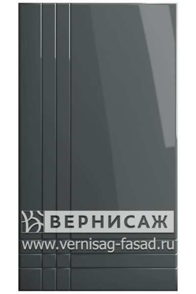 Фасады в пленке ПВХ, Фрезеровка № 18, цвет Графит глянец
