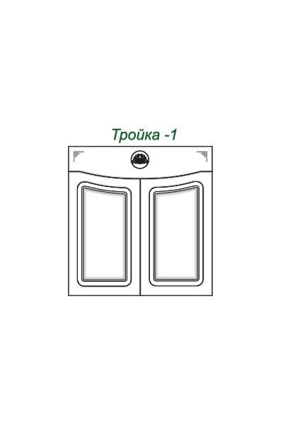 Декоративные накладки для пленочных фасадов из МДФ, Тройка 1