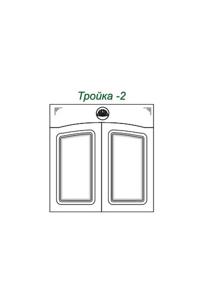 Декоративные накладки для пленочных фасадов из МДФ, Тройка 2