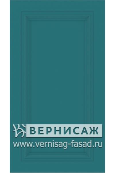 Фасады в пленке ПВХ, Фрезеровка № W4, цвет  Морская волна софт