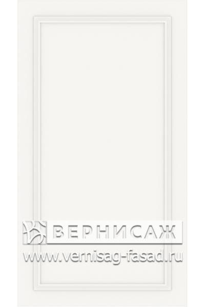 Фасады в пленке ПВХ, Фрезеровка № W5, цвет  Белый софт