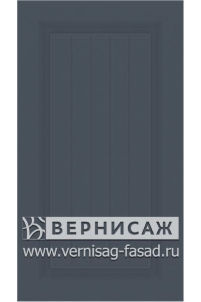 Фасады в пленке ПВХ, Фрезеровка № W6, цвет  Графит софт
