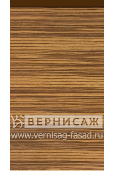 Шпонированные фасады из экзотических пород дерева, с интегрированной ручкой Зебрано
