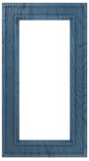 Фасады в пленке ПВХ, Фрезеровка № 75, рамочный фасад