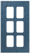 Фасады в пленке ПВХ, Фрезеровка № 75, фасад с решеткой