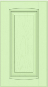 Прямые сборные фасады из МДФ в шпоне Фрезеровка №1, глухой фасад