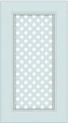 Прямые сборные фасады из МДФ в шпоне. Фрезеровка №3, фасад с решеткой