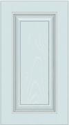 Прямые сборные фасады из МДФ в шпоне. Фрезеровка №3, глухой фасад