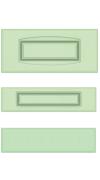 Прямые сборные фасады из МДФ в шпоне Фрезеровка №1, ящики