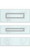Прямые сборные фасады из МДФ в шпоне. Фрезеровка №3, ящики