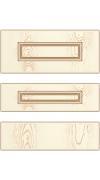 Прямые сборные фасады из МДФ в шпоне. Фрезеровка №4, ящики