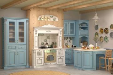 Кухня со сборными фасадами от компании Вернисаж