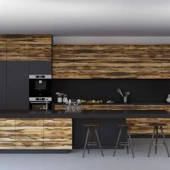 Шпонированные фасады серии Woodline от компании Вернисаж